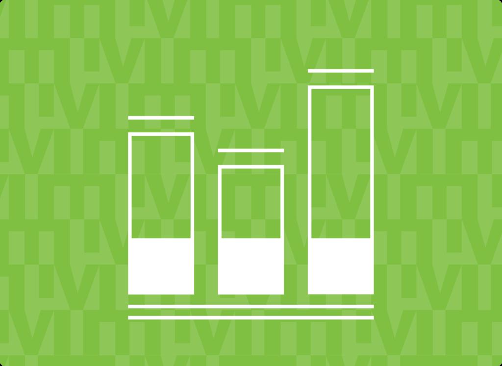 Green Vertical Bar Charts