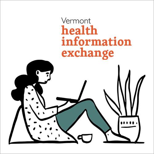 Illustration of woman on laptop